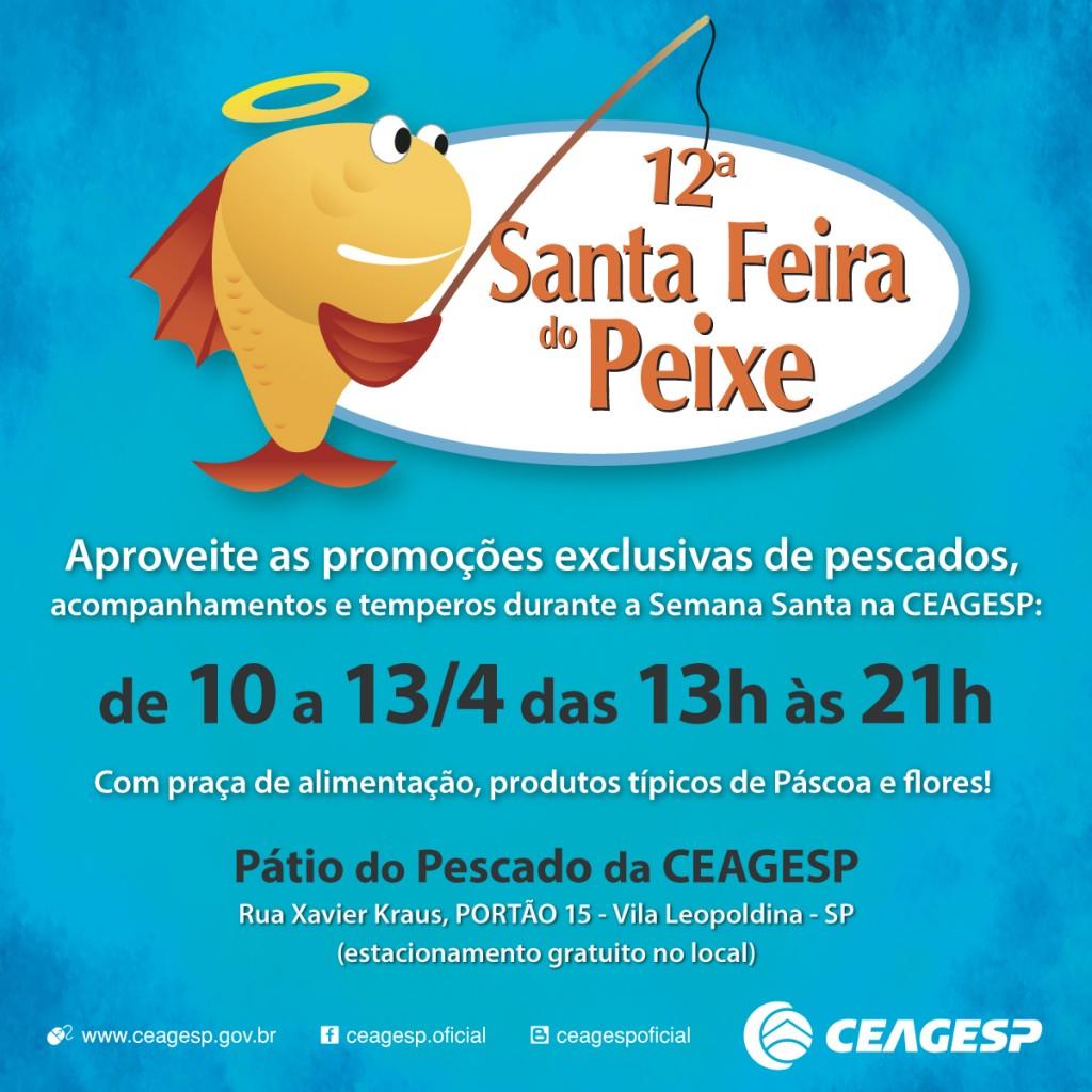 Cartaz da 12ª Santa Feira do Peixe